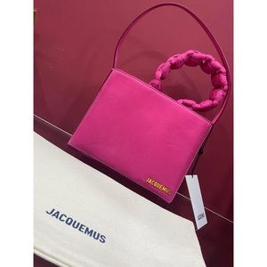 Jacquemus le sac noeud washed leather bag